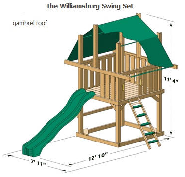 Williamsburg Wooden Swing Set Fitness Lifestyles
