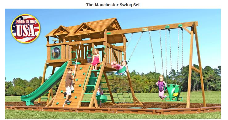 Manchester Wooden Swing Set | Fitness Lifestyles