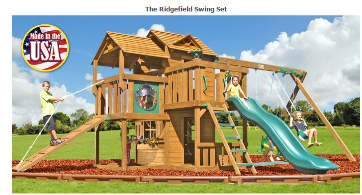 Ridgefield Wooden Swing Set Fitness Lifestyles