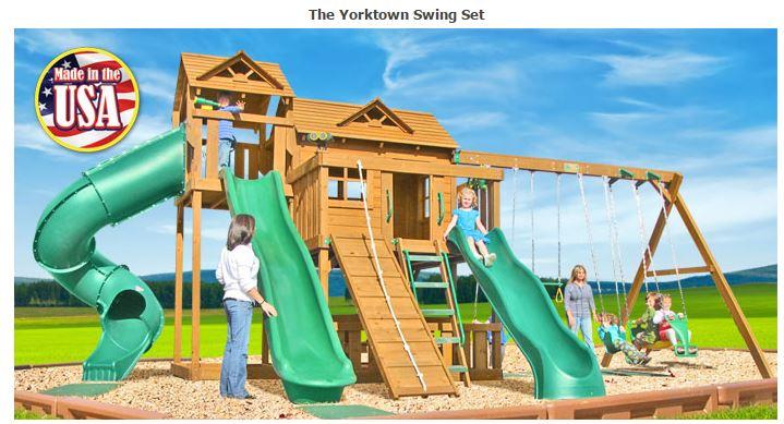 Yorktown Wooden Swing Set | Fitness Lifestyles