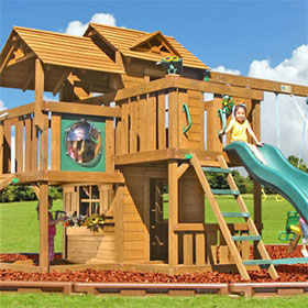Ridgefield Wooden Swing Set