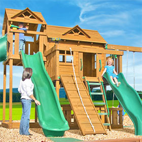 Yorktown Wooden Swing Set